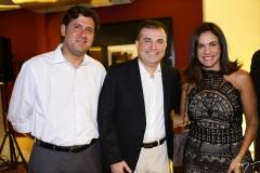 Rafael Rodrigues, Ricardo Bezerra e Ana Virgínia Martins