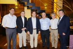 Rafael Rodrigues, Ricardo Bezerra, Edson Queiroz Neto, Jorge Wilson Freire, Padua Lopes e Evandro Colares
