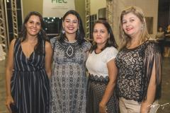 Ariely de Castro, Emanuele Nobre, Áurea Dias e Grace Kelly Pinheiro