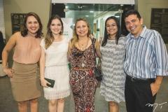 Sílvia Amélia, Nara Luiza, Carla Oliveira, Wladiane Medeiros e Daniel Cruz