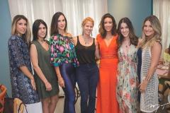 Patrícia Santiago, Nathalia Nogueira, Marcela Cabral, Giordana Martins. Mari Lima, Sara Brasil e Bruna Magalhães