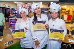 Raquel Maximo, Nataly Oliveira e Mizael Sales