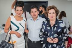 Márcia Travessoni, Pompeu Vasconcelos e Leda Maria