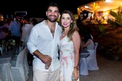 Luís Herique e Caroline de Oliveira