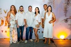 Marta Lobo, Olival, Ítalo Miranda, Camila, Fábio Santos e Thais Cunha