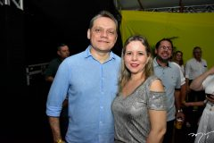 Paulo Roger e Eveline Carneiro