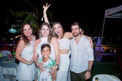 Renata, Milena e Luana Guerra, Rafaelson Silveira e Pedro Arthur