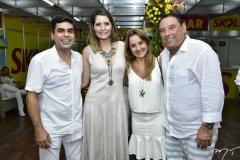 Queiroz Filho, Camila Queiroz, Elizabeth e Mauricio Pinheiro