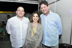 Roberto Cláudio e Carol Bezerra e Ciro Gomes