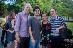 Inácio Arruda, Pedro Oliveira, Andrea Oliveira e Terezinha Braga