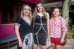 Sandra Oliveira, Carala Gadelha e Elisangela Almeida