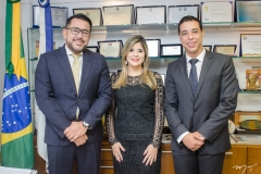 Márcio Martins, Roberta Vasques e Leonardo Araújo