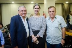 Idemar Citó, Amanda Machado e Claudio Targino