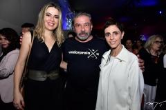 Onélia Santana, Cláudio Silveira e Lilian Pacce