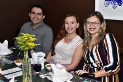 Thiago Moura, Caroline Pinto e Anne Kayline