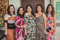 Adriana Bezerra, Martinha Assunção, Sellene Câmara, Cláudia Gradvohl e Eveline Fujita