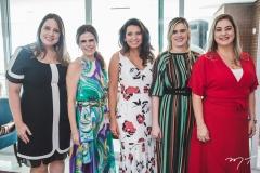 Luciana Colares, Niedja Bezerra, Márcia Travessoni, Daniele Lafuente e Simone Miquiles