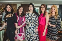 Zildinha Pessoa, Martinha Assunção, Sellene Câmara, Lorena Pouchain e Leticia Studart