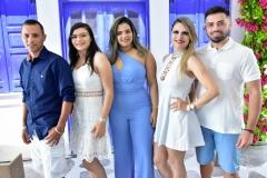 Amauri José, Josemara Lira, Luciara Sousa, Daniela Erthal e Leonardo Teixeira