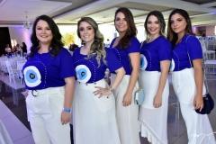 Lívia Regis, Tayná Lomônaco, Carol Gutes, Rebeca Campos e Lívia Cabral