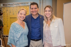 Paola Braga, Ézio Feitosa e Larissa Gaspar