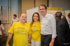 Roberto Cláudio, Patrícia Macedo e Camilo Santana