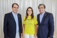 Salmito Filho, Patrícia Macedo e Zezinho Albuquerque