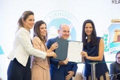 Onélia Santana, Carol Bezerra, Roberto Cláudio e Mariana Luz