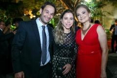 Cláudio Rocha, Mirella Freire e Lenise Queiroz Rocha