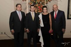 Edson Queiroz Neto, Abelardo Rocha, Márcia e Fernando Travessoni