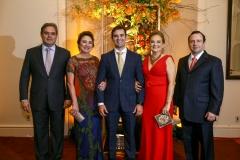 Edson Queiroz Neto, Paula Frota, Abelardo Rocha, Lenise Queiroz Rocha e Igor Queiroz Barroso