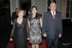 Maria José Arruda, Carmen Braga e Olívio Feitosa