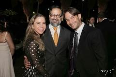 Mirella Rocha, Márcio Crisóstomo e Cláudio Rocha