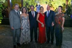 Tasso e Renata Jereissati, Cláudio Rocha e Lenise Queiroz Rocha, Silvio e Paula Frota