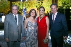 Tasso e Renata Jereissati e Lenise Queiroz e Cláudio Rocha