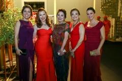 Ticiana Rolim Queiroz, Aline Félix Barroso, Paula Frota, Lenise Queiroz Rocha e Viviane Rocha