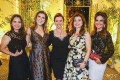 Cristiana Carneiro, Carla Pereira, Aline Félix Barroso, Rilka Bezerra e Eveline Fujita