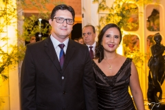 Francisco Martins e Danielle Uchôa