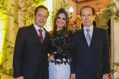 Lisandro, Eveline e João Batista Fujita