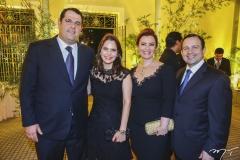 Lúcio e Cristiana Carneiro, com Aline Félix e Igor Barroso Queiroz