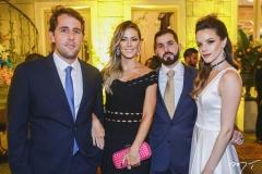 Rodrigo Frota, Bruna Waleska, Felipe Queiroz Rocha e Paulinha Sampaio