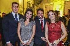Thiago e Priscila Leal, com Carlos e Sílvia Brandão