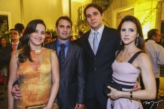 Viviane e Abelardo Rocha, com Benjamim e Carla Oliveira