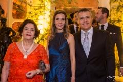 Zenóbia, Patrícia e Vitor Leal