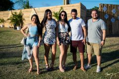 Andreza Rodrigues, Alexia Barbosa, Aline Lira, Daniel Queiro e Jeferson Barbosa