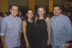 Glaydson Mota, Manoela Queiroz Bacelar, Karine Moreira e Valdetário Monteiro