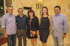 Glaydson Mota, Rossini Esmeraldo, Gladys Sidoux, Karine Moreira e Valdetário Monteiro