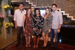 Antonio Elisio Aguiar, Fátima Baquit, Marcia Travessoni , Naiara Sampaio e Vitor Baquit