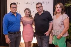 Bruno, Wanda, Marcos e Izabel Gomide