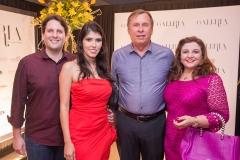 Daniel Simões, Flávia Laprovitera, José Simões e Jacqueline Simões